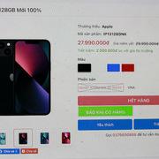iPhone 13 xách tay giảm giá sâu