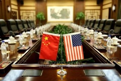 Quan chức thương mại Mỹ và Trung Quốc hội đàm trực tuyến