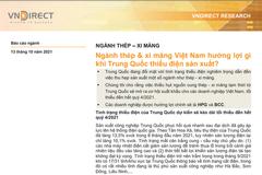 VNDirect: Ngành thép, xi măng Việt Nam hưởng lợi gì khi Trung Quốc thiếu điện sản xuất?