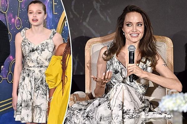 Con gái Angelina Jolie lại gây 'sốt' khi mượn váy Dior của mẹ đi thảm đỏ